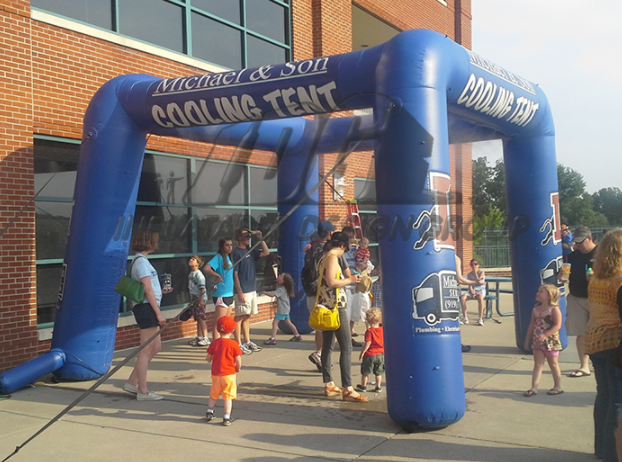 Custom Inflatable Misting Station for Sports Team