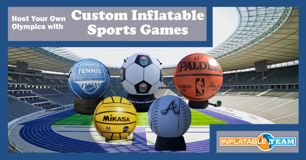 host your own olympics with custom sports inflatable games
