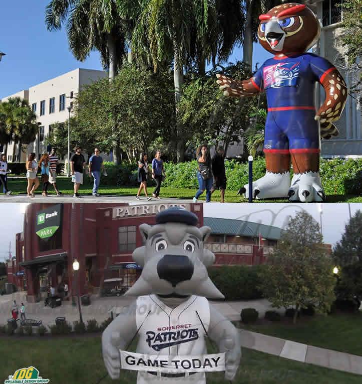 giant custom inflatable mascots