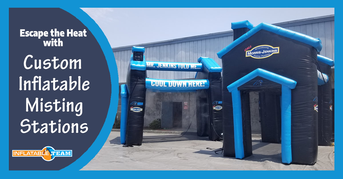 custom sports inflatables misting stations