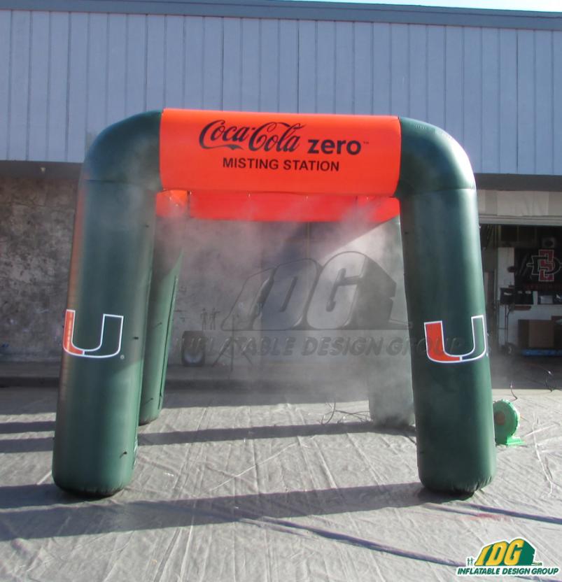 university custom inflatable misting station