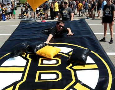 hockey custom inflatable corn hole