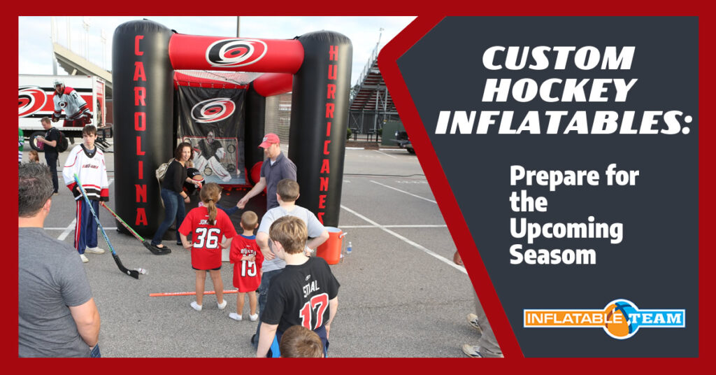 custom hockey inflatables