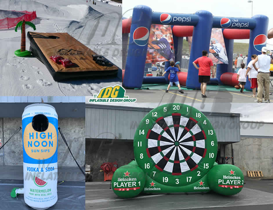 company branded inflatable games
