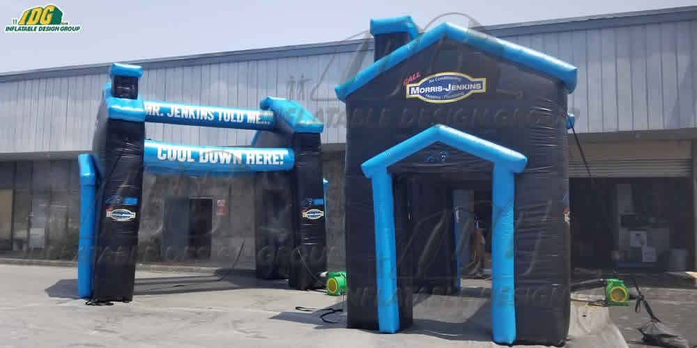 custom inflatable nfl misting stations for the carolina panthers