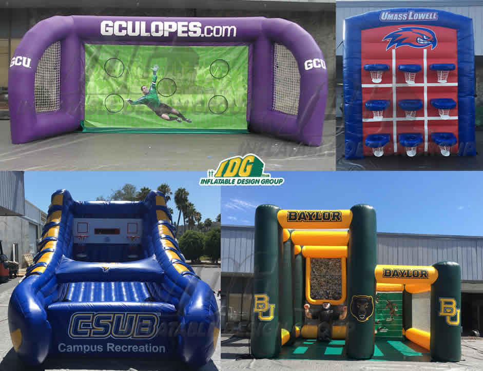 university custom inflatable interactive games for game day tailgate