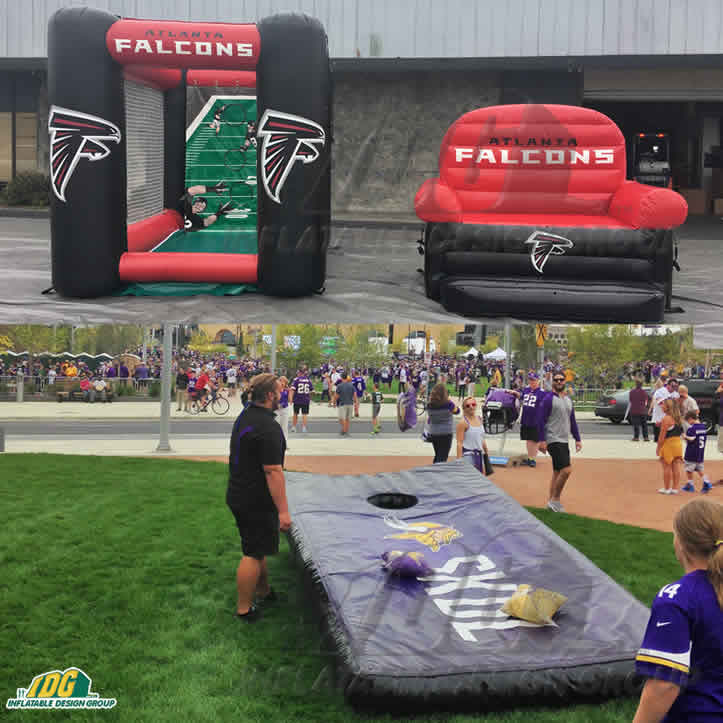 interactive nfl inflatables
