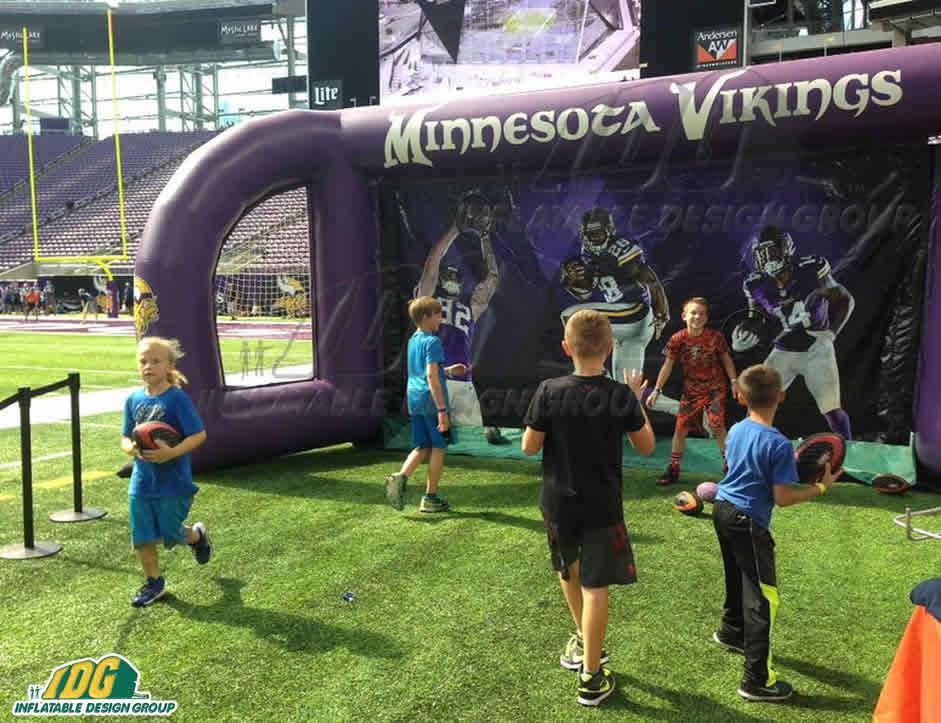 custom inflatable game for the minnesota vikings
