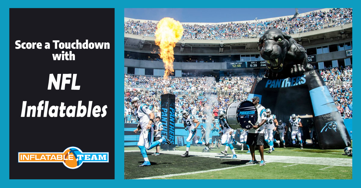 score a touchdown with nfl inflatables