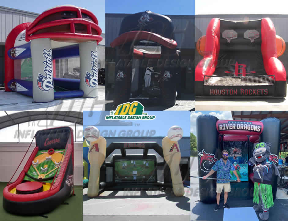 custom inflatable interactive games for sports teams