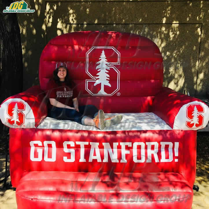 giant inflatable couch for stanford university