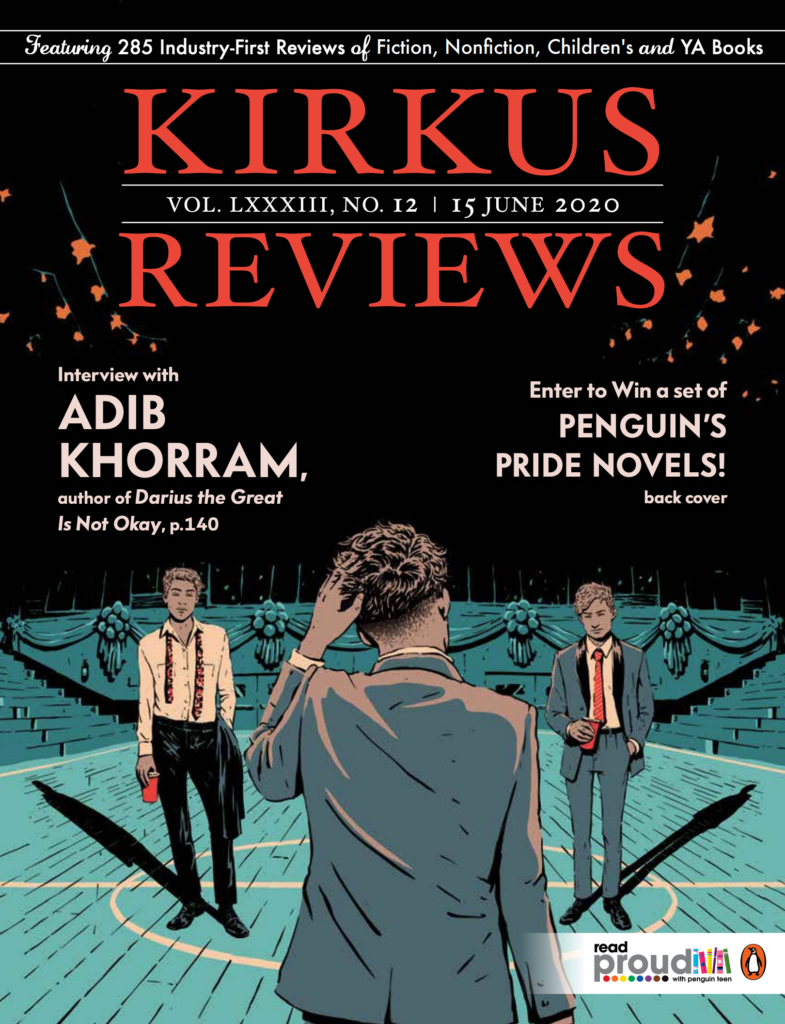 The cover of Kirkus Reviews from June 15, 2020.  Click to download a pdf of the full issue. The review of my biography of P.K. Subban starts on page 154