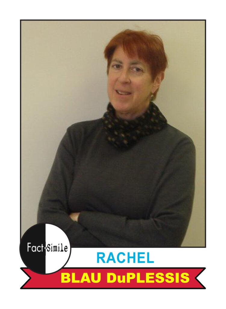 Rachel Blau duPlessis Poetry Trading Card