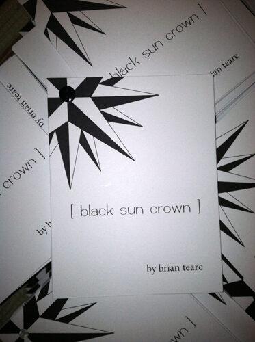 black sun crown by Brian Teare
