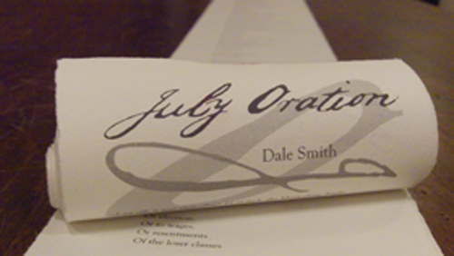 July Oration by Dale Smith
