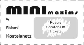 minimaxims by Richard Kostelanetz