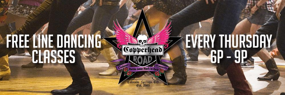 Copperhead Website Line Dancing Banner