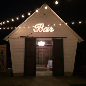 Marquee BAR sign