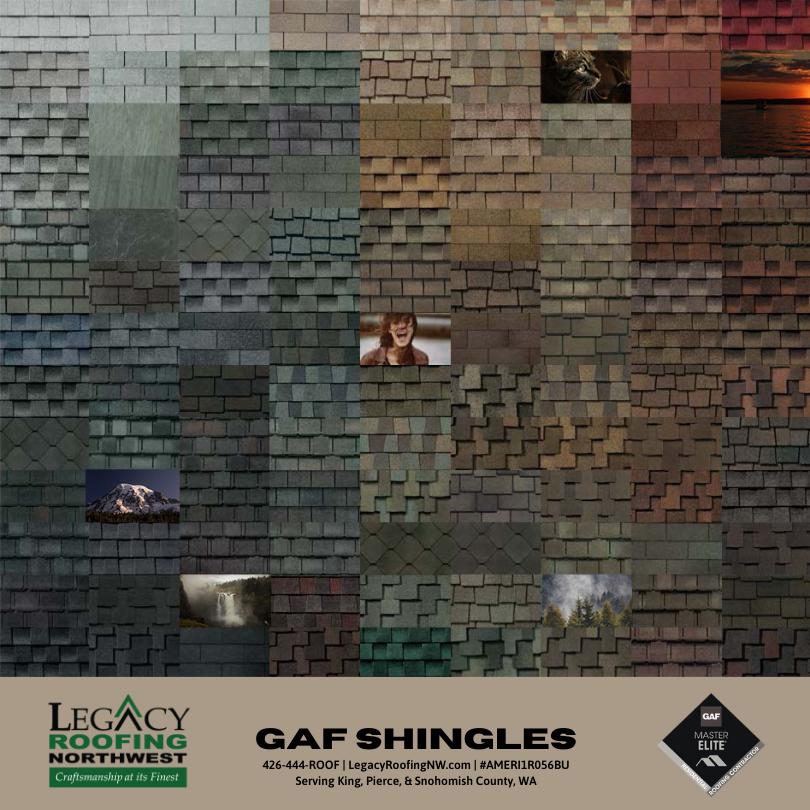 GAF Shingle Shapes and Colors