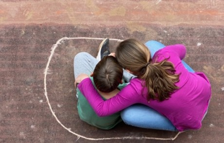 Young children sitting together in circle. Take by Heidi Pontillo in Scilla, Italy