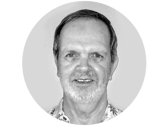 Black and white head shot of Bill Myers