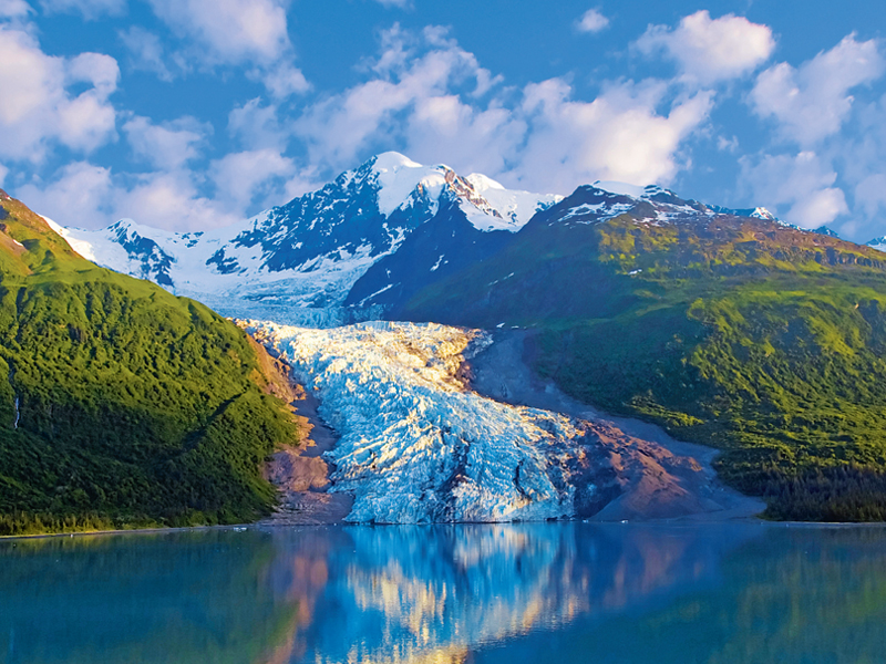 Oceania photo of Glacier and snow-capped Mountains