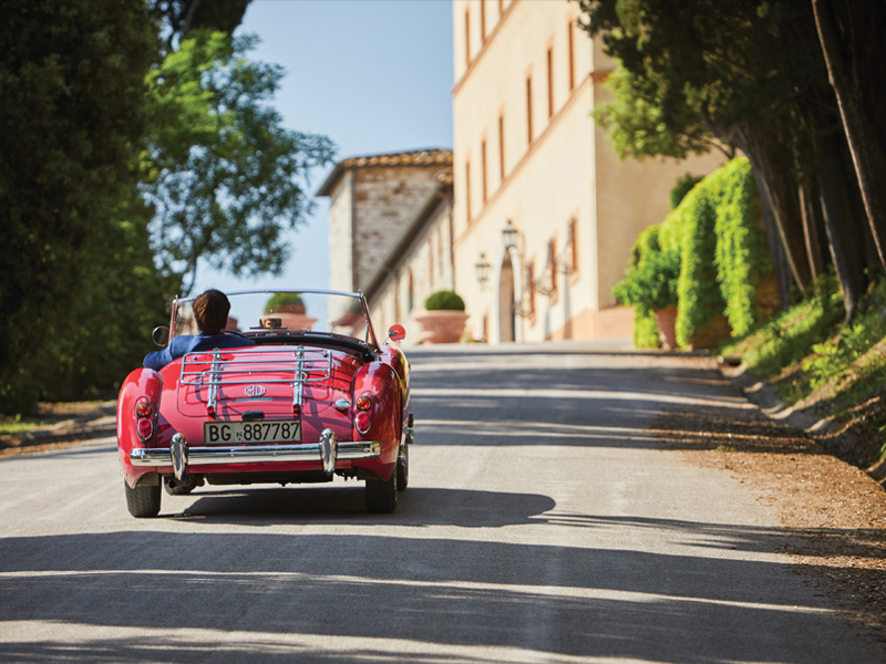 Belmond Castello di Casole's photo of exploring iconic Tuscan countryside in a vintage car