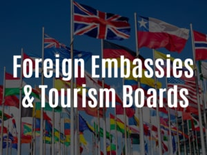 Foreign Embassies & Tourism Boards graphic for link