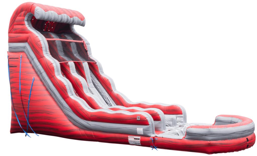 $400 - $50 DEPOSIT - 22' FOOT DUAL LANE LIQUID HOT MAGMA DUAL LANE WATERSLIDE RENTAL IN MEMPHIS