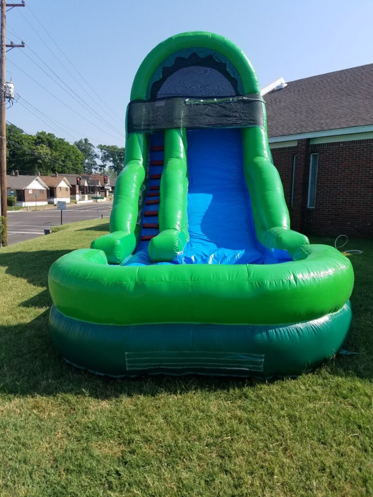 $275 - $75 DEPOSIT - 18' FOOT SINGLE LANE BLUE & GREEN WATERSLIDE RENTAL IN MEMPHIS