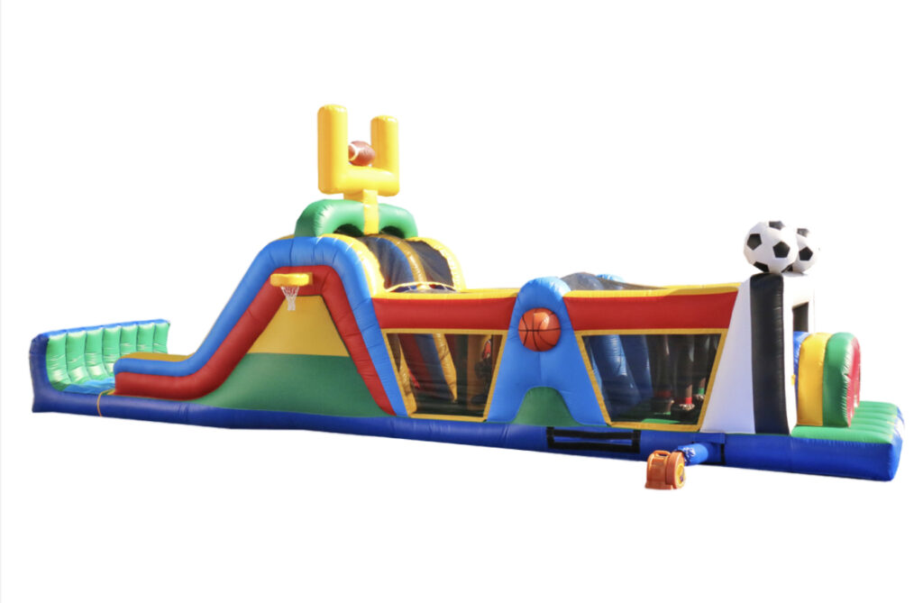 $350 - 17' FOOT DUAL LANE OBSTACLE COURSE WATER SLIDE RENTAL IN MEMPHIS