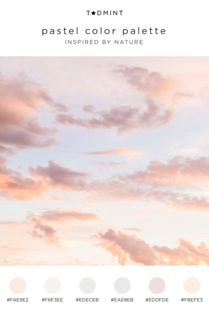 Pastel color palette inspired by clouds