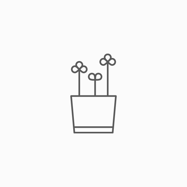 Outlined flower pot icon