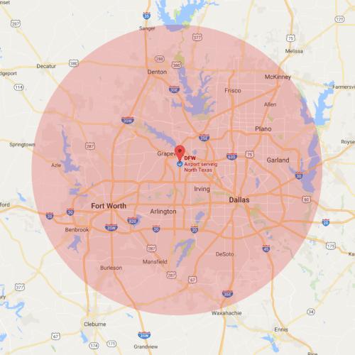 Dallas Fort Worth ATM Service Area