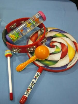 Lollipop Drum and assorted percussion