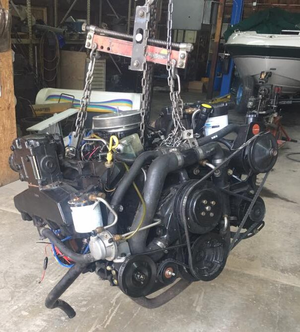 blown marine engine