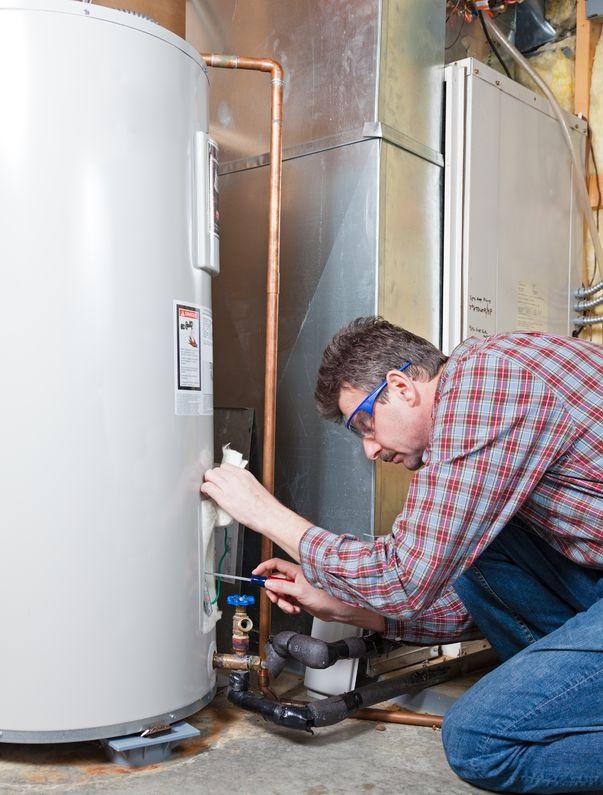water heater maintenance by the technician mount pleasant