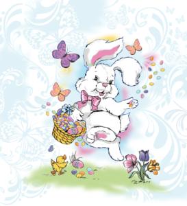Miami Happy Easter textile design illustration