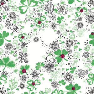 Miami St. Patricks day medical scrubs textile design illustration