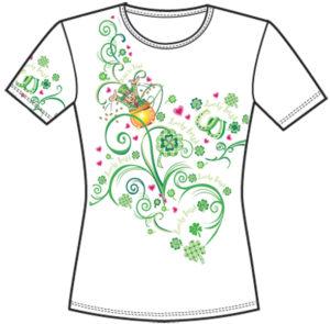 miami St. Patrick's Day textile print design