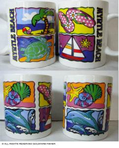 Miami Mugs product graphic design