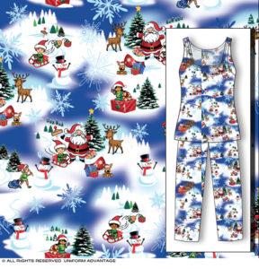 Miami Christmas pajamas textile design illustration