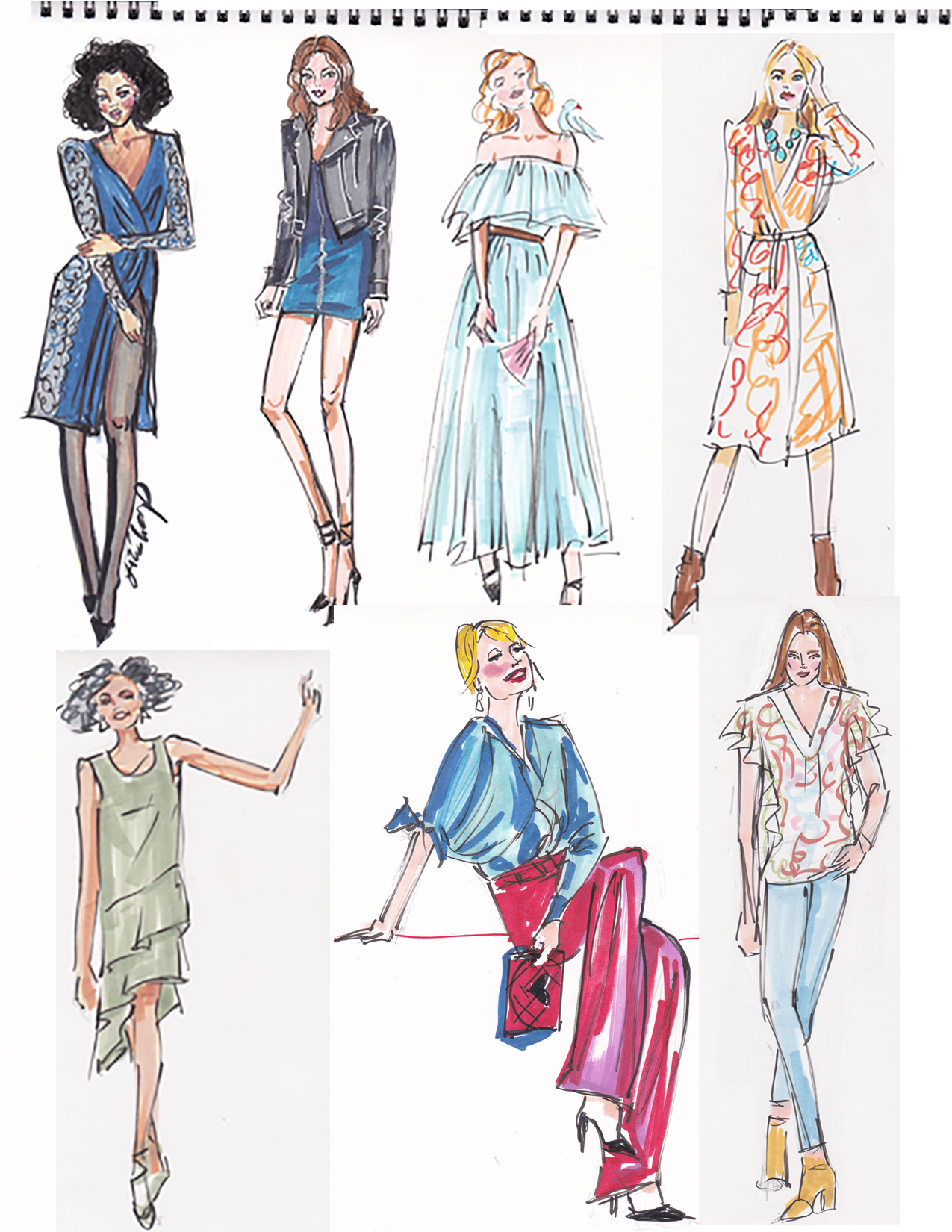 daily 5 min. fashion sketches