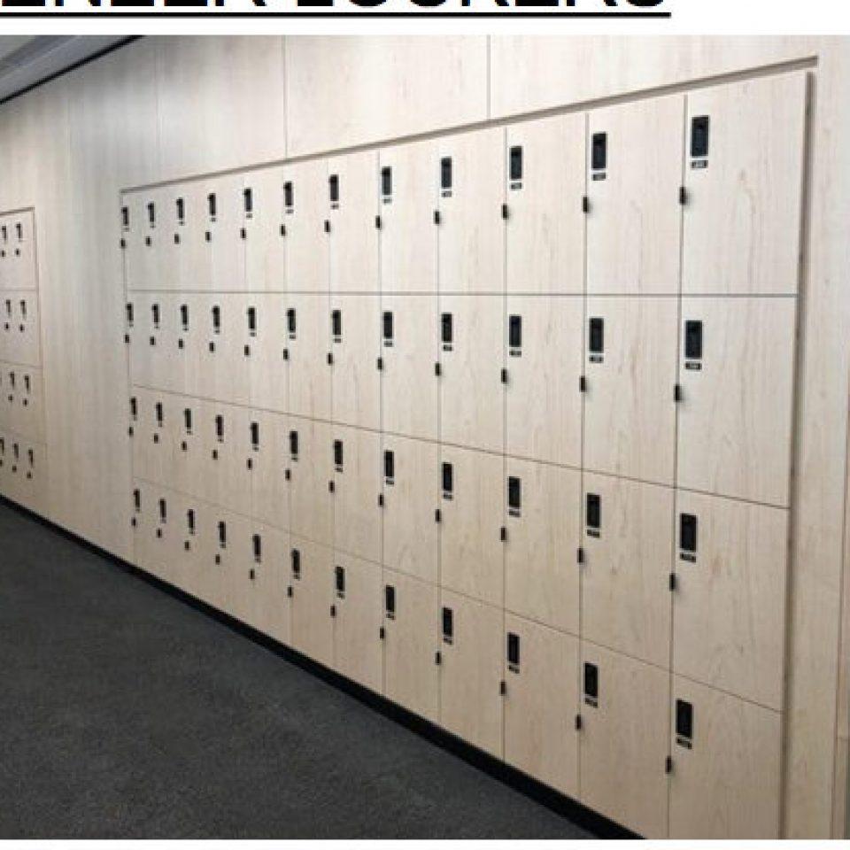 Wood Veneer Lockers (3)