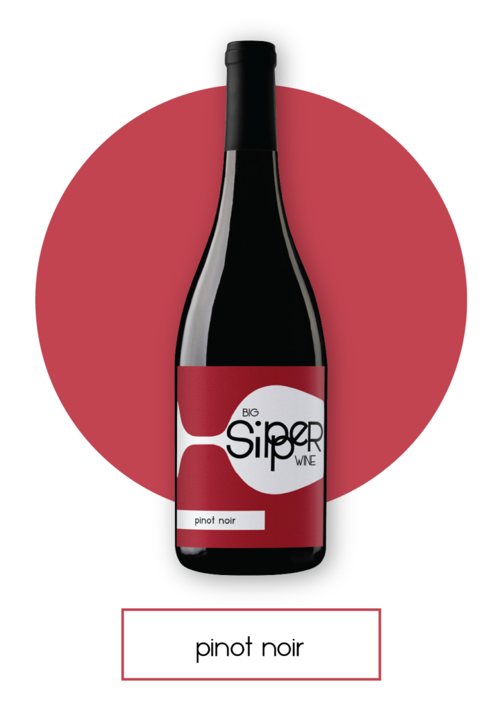Big Sipper Pinot Noir Bottle with Button