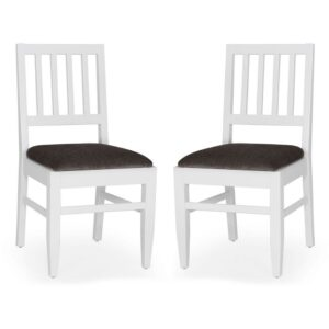 Buy Snowy Silver Dining Chair – Set of 2 Jfa Furniture Online in Chennai
