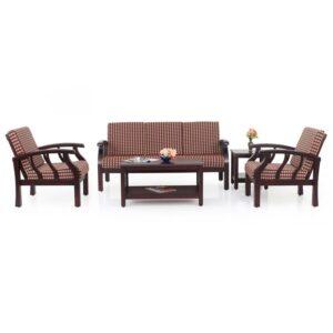 Garnet Wooden Sofa – 3-1-1 Set Jfa Furniture