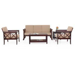 Ruby Wooden Sofa – 3-1-1 Set Jfa Furniture