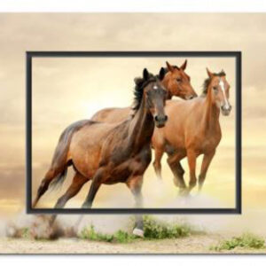 THE FURY OF HORSE POWER Painting