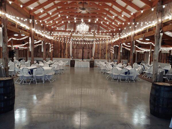 Wedding reception in white